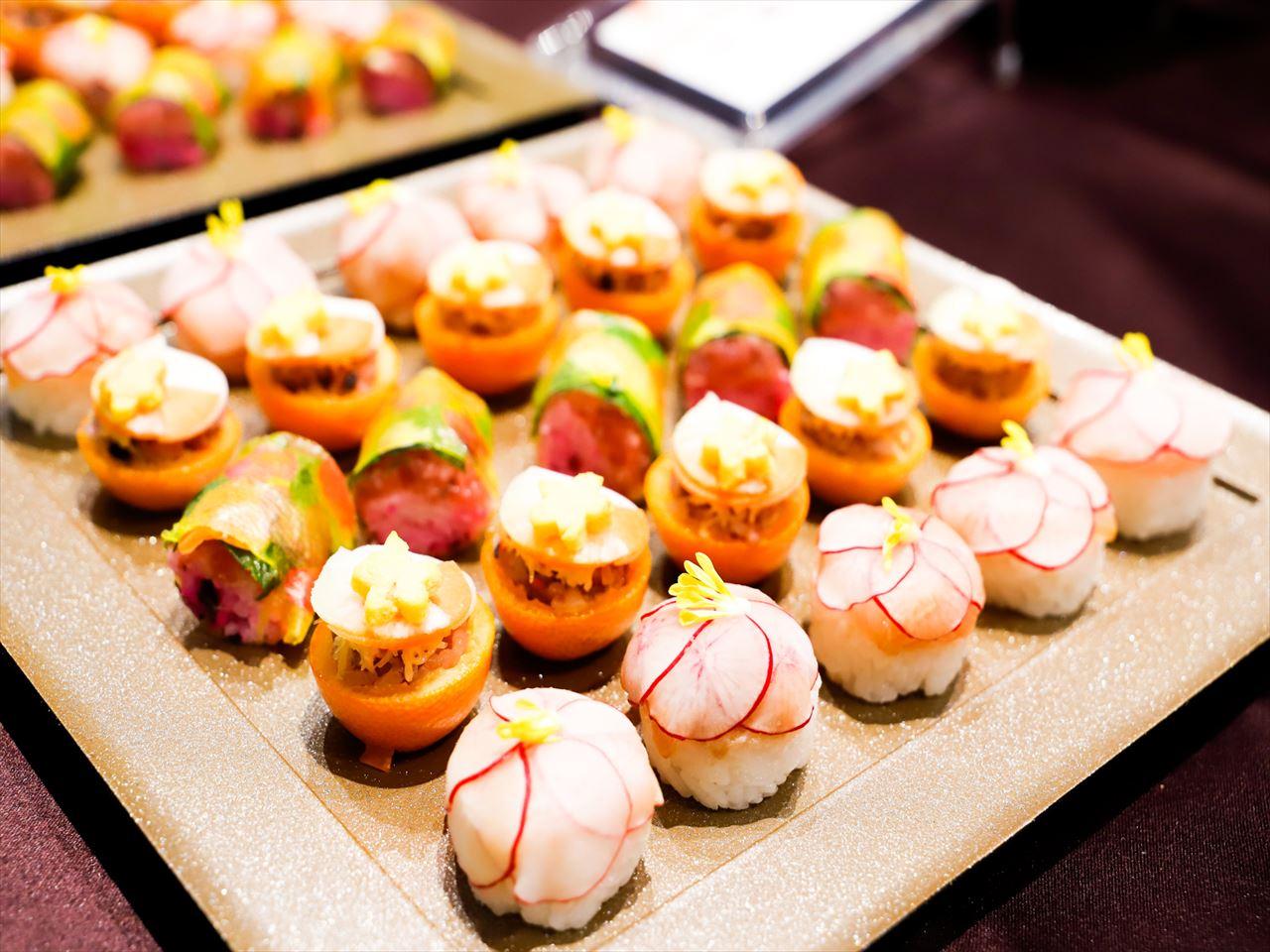 【ボリューム満点】特製創作寿司つき!フォリクラッセの本格パーティー向け豪華ケータリングプラン画像0