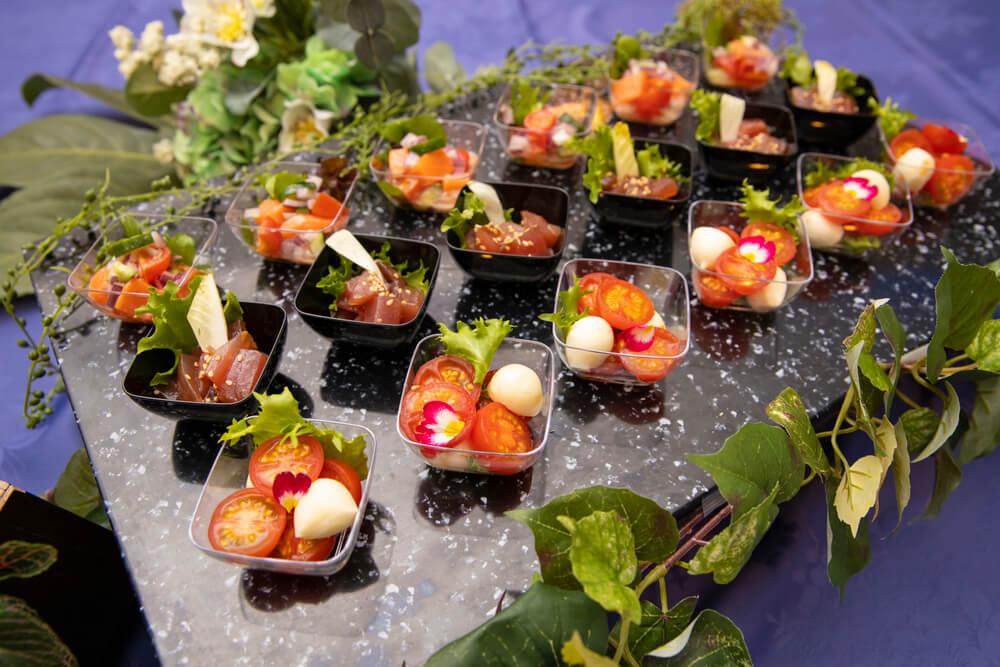 【飲み放題つき】フィンガーフード中心!リゾートケータリング東京の立食スタンダードケータリングプラン画像1