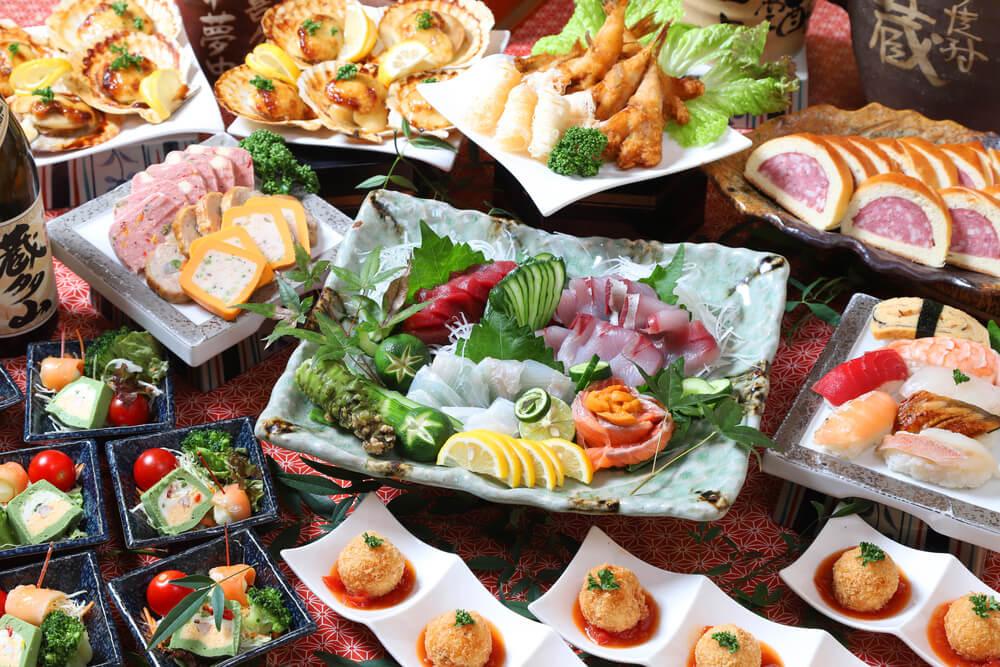 【ビュッフェ・立食】寿司つき!南喜久の立食お手軽ケータリングプラン画像1