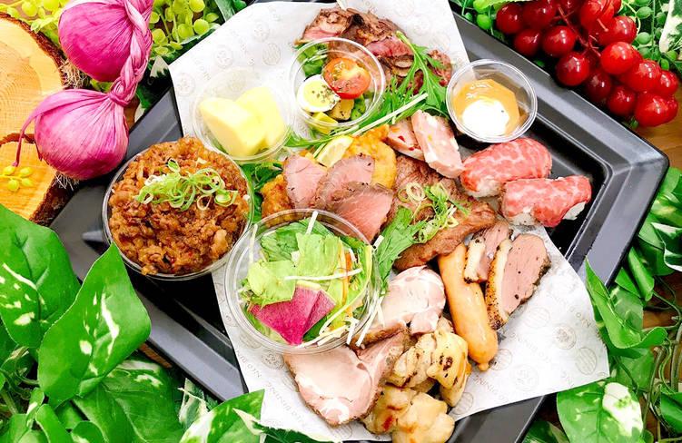 【小分け盛りプレート】和牛の肉寿司付!ネオダイニングの小分け盛りオードブルプレートプラン画像0