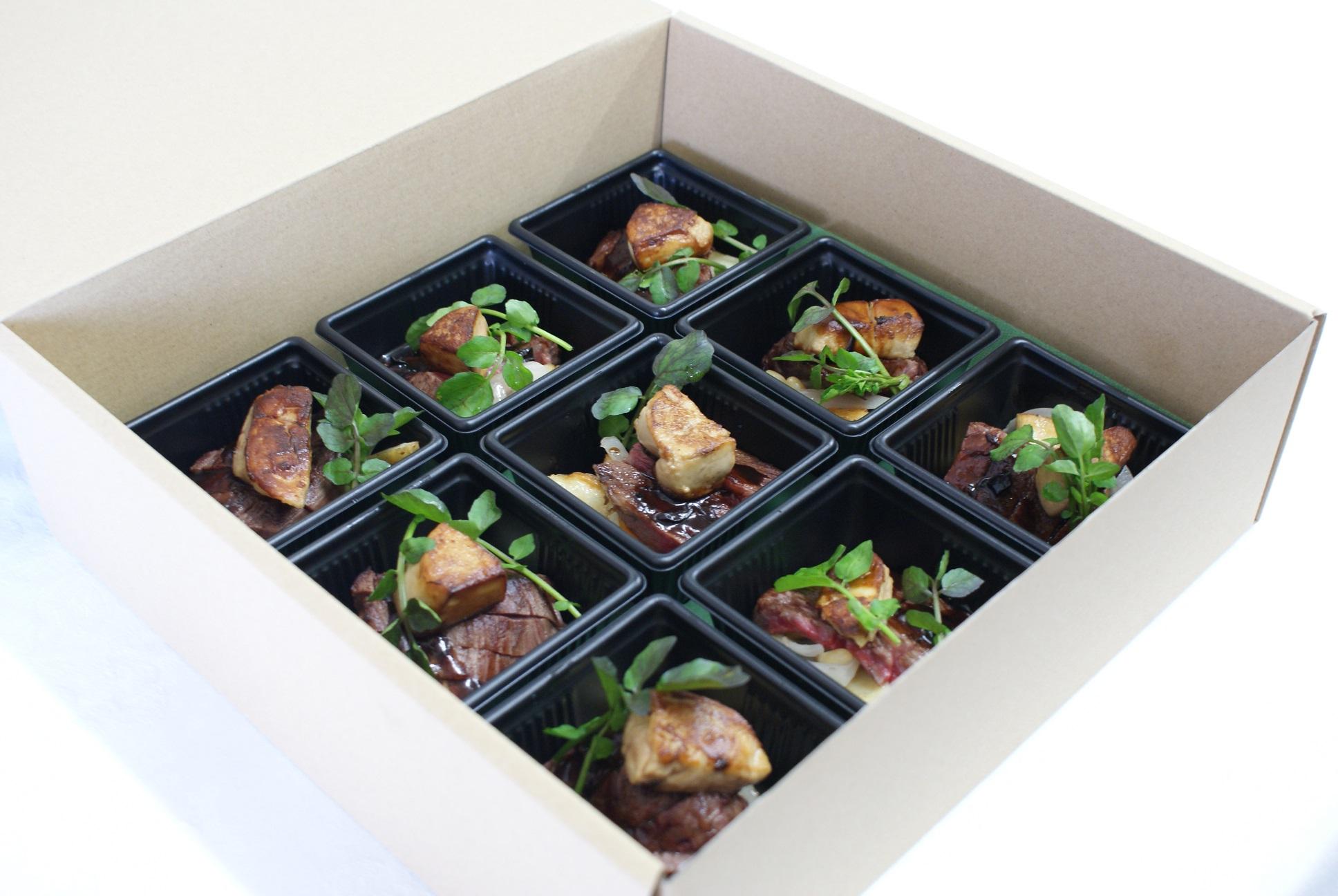 【完全個別包装のカップオードヴル】牛肉のソテーとフォアグラのロッシーニ風 と選べるカップオードヴル画像0