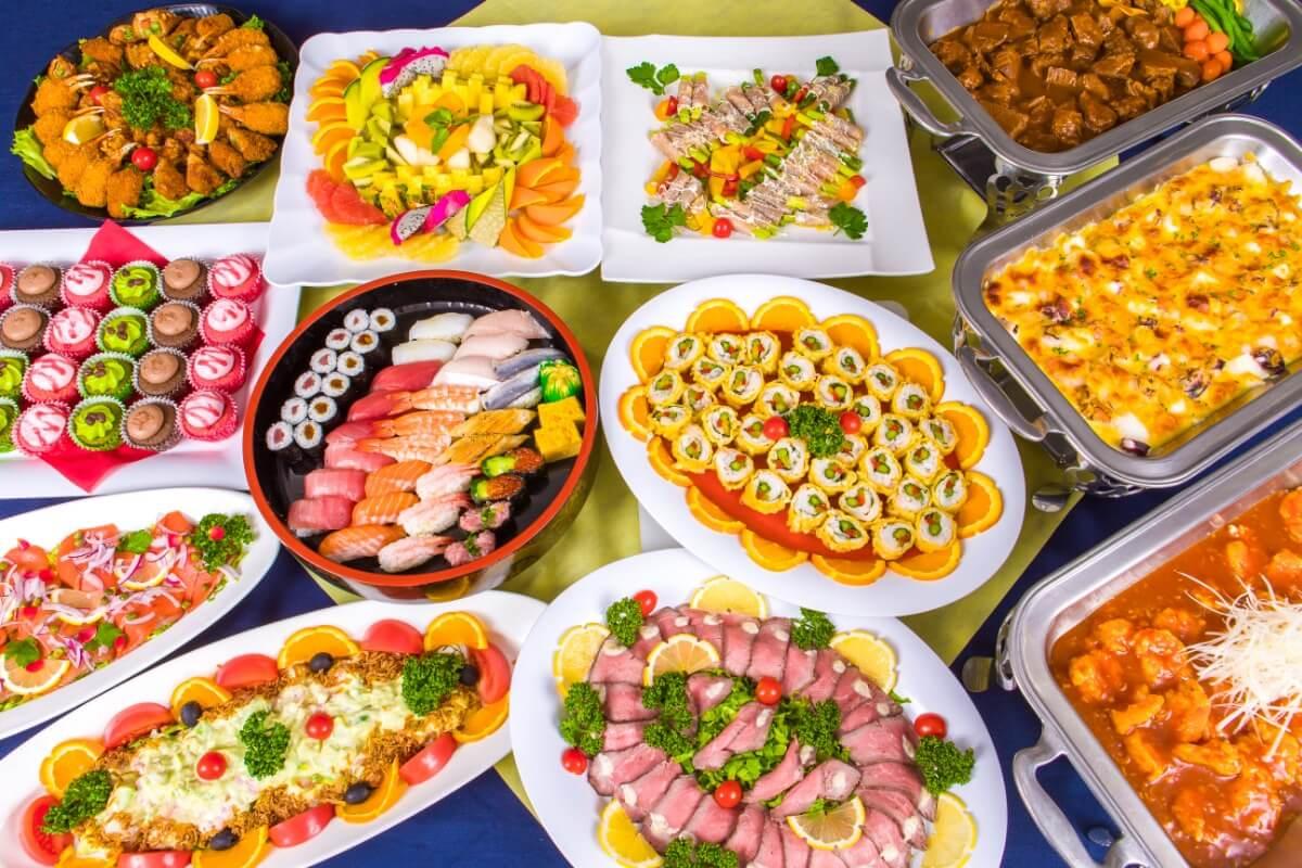 【飲み放題つき】上江戸前寿司つき!ケータリングオリハラの立食向けスタンダードケータリングプラン画像1