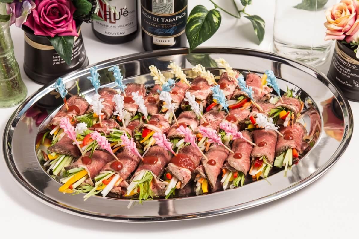 【ボリューム満点】江戸前寿司つき!ベリーベリーの立食スタンダードケータリングプラン画像5